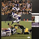Autographed/Signed Adrian Peterson Minnesota Vikings 11x14 Football Photo JSA COA