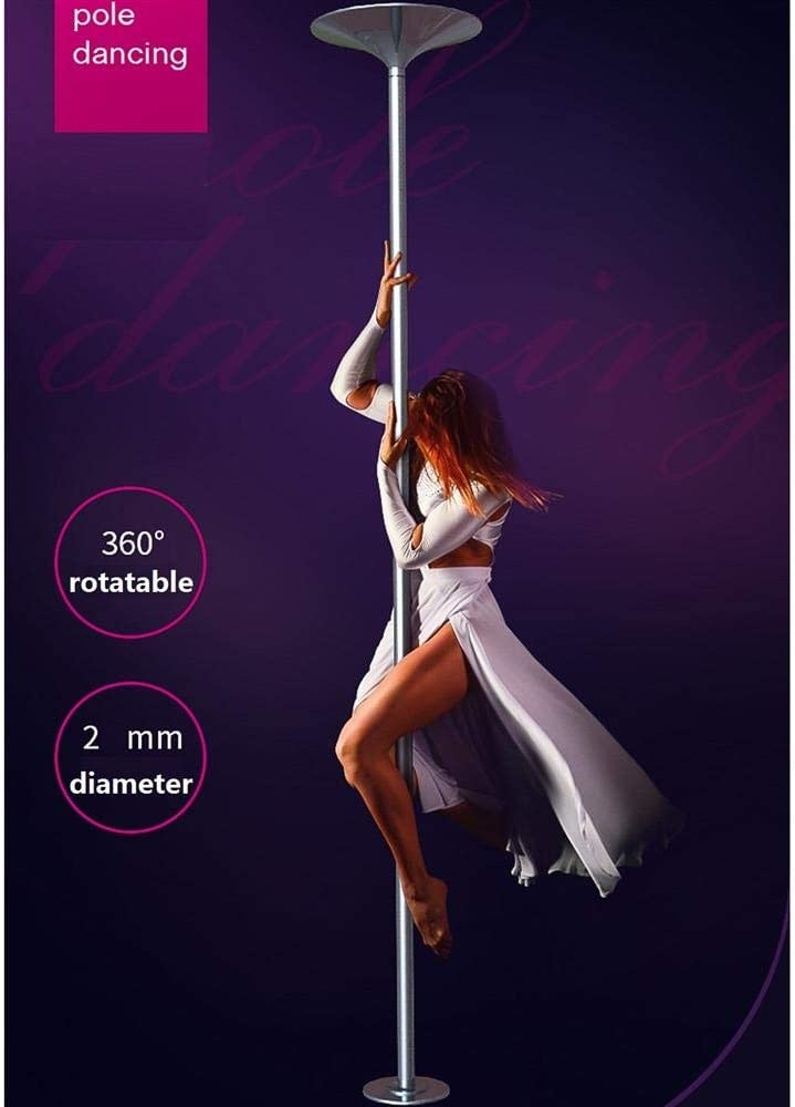 Topeakmart 45mm Portable Professional Stripper Pole Spinning and Static Dance Pole Kit Removable Fitness Exercise Dancing Pole