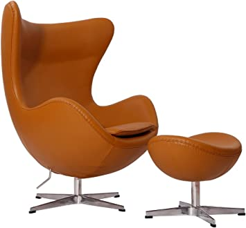 Egg Chair Arne Jacobsen Kopie.Amazon Com Mlf Arne Jacobsen Egg Chair Ottoman In Top Light