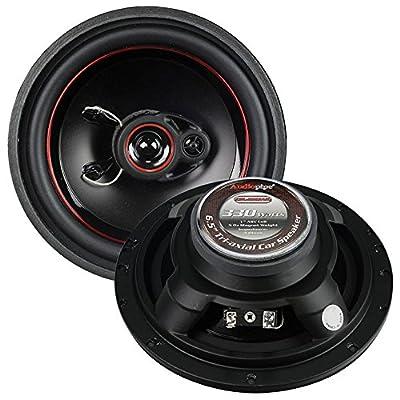 "Audiopipe Redline 6.5"" 3 way 5 oz magnet car speaker slim style(pair): Home Audio & Theater"