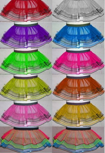 Uv Neon Triple Layer Dance Tutu Skirt Fancy Costume Party Halloween 11 Color Usa Select One Color (Neon Tutus For Sale)