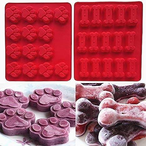 Snner moldes para Pasteles de la Bandeja del Cubo 2 Paquete Conjunto (Cachorros) Pote
