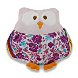 Incredibly Cute Plush Floral Owl Decorative Throw Pillow - Pink