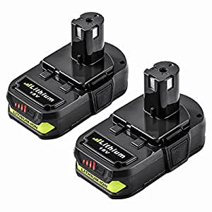 ENERMALL 2 Packs 2.5Ah Replace for Ryobi 18V Lithium Ion Battery ONE+ P102 P103 P104 P105 P107 P108 P109 Cordless Power Tools