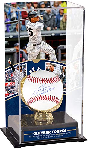Gleyber Torres New York Yankees Autographed Baseball and Youngest Player to Hit a Walk-Off Home Run in Yankees History Sublimated Display Case with Image - Fanatics Authentic Certified