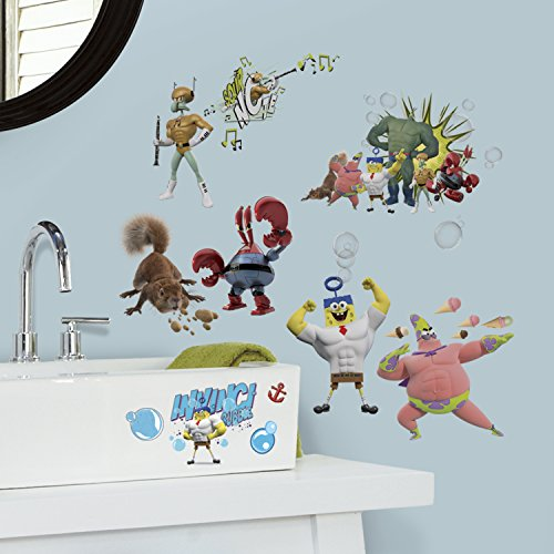 (RoomMates RMK2848SCS The Spongebob Movie Peel and Stick Wall Decals (Set of 4), 10