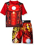 Marvel Little Boys' Iron Man 2-Piece Swim