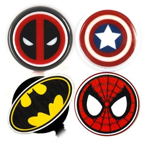 Deadpool Inspired Decorative ID Badge Holder (Superhero 4 Pack) (Super Hero Id Badge Holder)