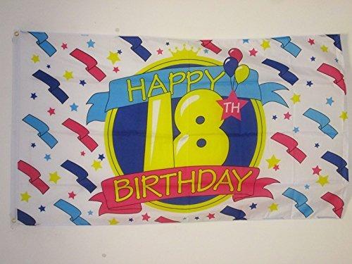 AL PRODUCTION Bandera Feliz Cumpleaños 18 años 150 x 90 cm ...