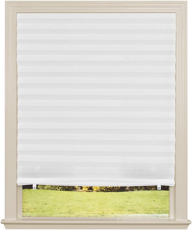 "Original Light Filtering Pleated Fabric Shade White, 48"" x 72"""