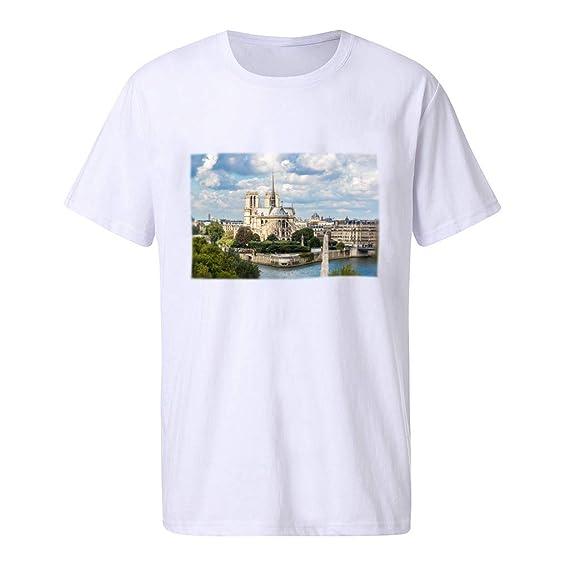 NINGNETI Camisetas De Moda para Hombre Camiseta De Manga ...