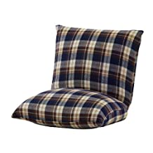 Azumaya Compact Kotatsu Floor Cushion Chair RKC-927BL Blue Check design