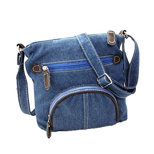Donalworld Women Mini Denim Cross Body Bag Messenger Shoulder Bag (Jean Purse Pattern)