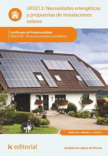 Descargar Libro Necesidades Energéticas Y Propuestas De Instalaciones Solares. Enac0108 Bernabé Jiménez Padilla