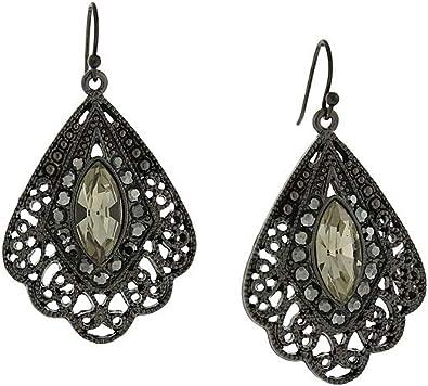 black metal earrings amazon
