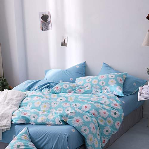 64a6bf9b8962d 3 Piece Girls Cotton Floral Queen Duvet Cover Sets with 2 Pillow Shams Teen Bedding  Sets