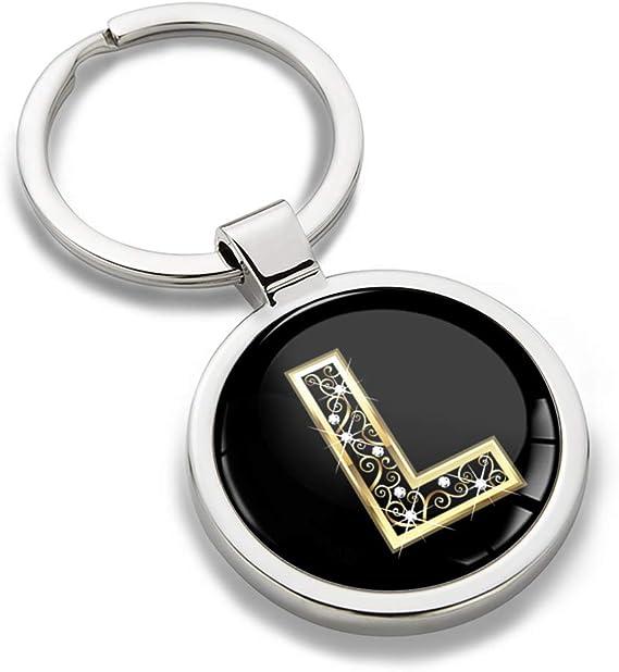 Biomar Labs Schlüsselanhänger Buchstabe Metall Keyring Buchstaben Initialen Alphabet Autoschlüssel Geschenk Metall Schlüsselanhänger Schlüsselbund Edelstahl Gold L Kk 64 Bekleidung