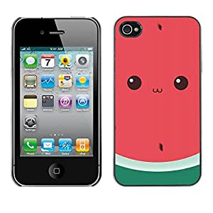 Plastic Shell Protective Case Cover || Apple iPhone 4 / 4S || Cute Drawing Eyes @XPTECH