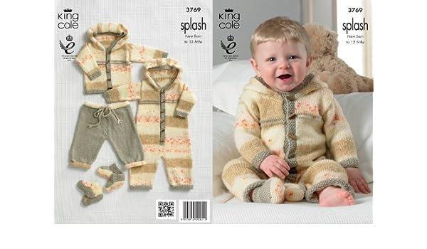 Baby Double Knitting Pattern Splash DK King Cole Coat Trousers All In One 3769
