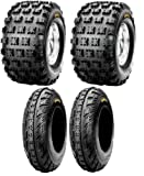 NEW Front & Rear ATV 4 Tires Tire Set 20X10/9 21X7/10 20x10x9 21x7x10 Honda 250R 400EX 450R ATC TRX Yamaha Raptor YFZ450
