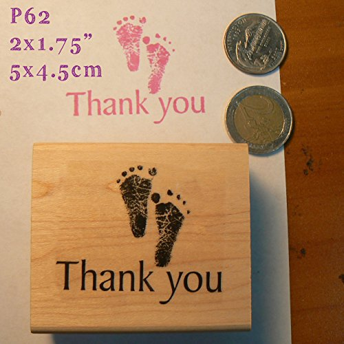 P62 Thank you baby feet rubber -