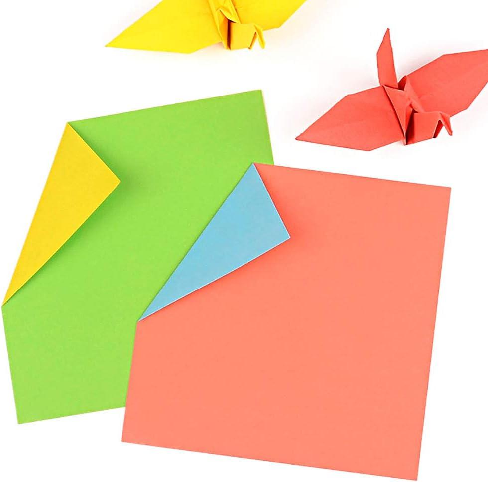 15cm 300 Hojas Origami Papel 15x15 Papiroflexia Doble Cara de Papel para Decoracion de Fiesta de Inicio de Juguete de Los Ninos 7cm GLOBALDREAM Papel de Origami 10cm