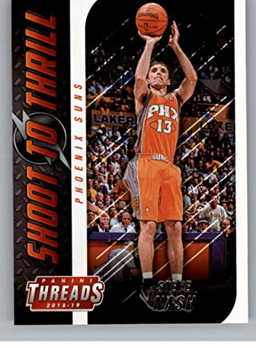 (2018-19 Panini Threads Shoot to Thrill Basketball #6 Steve Nash Phoenix Suns Official NBA Trading Card From Panini)
