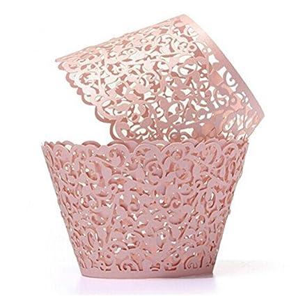50 moldes de cupcakes de ROSENICE, cortados a láser, para bodas, fiestas de