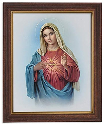 Gerffert Collection Sacred Heart of Mary Framed Portrait for sale  Delivered anywhere in USA