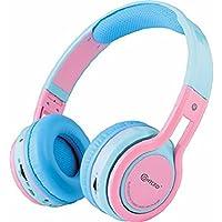 Contixo Kid Safe 85db Volume Limit, Foldable Wireless Bluetooth Headphone, FM Stereo Radio, (Pink)