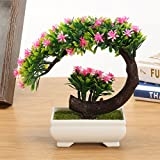 CAVEEN Artificial Topiary Plants in Pot Fake Green Bonsai Tree Decoration for Home Office Desktop Unique Gift #4