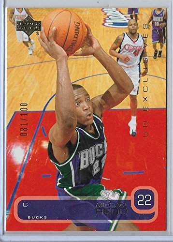 2002-03 Upper Deck Basketball Michael Redd Exclusives Parallel Card # 81/100 (03 Basketball Deck Upper)