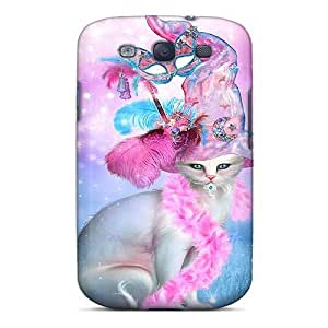 EWBVKDL5397XaGuS Anti-scratch Case Cover CADike Protective Cat In Fancy Witch Hat Case For Galaxy S3
