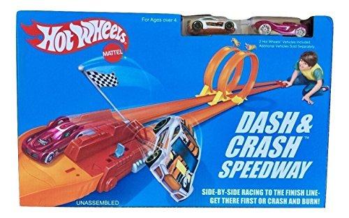 Hot Wheels Dash and Crash Retro Speedway Trackset