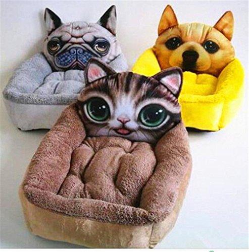 Angelwing Dog Cat Bed 3d Cartoon Print Pet Kennel Luxury Sofa Nest Puppy House (M (5060CM.), (Stimulator Gallon)