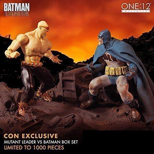 Mezco One:12 Collective The Dark Knight Returns Batman vs Mutant Leader SDCC Exclusive Diorama Statue