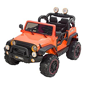 Murtisol Kids Electric Power Wheels 12V Ride on Cars with Remote Control 2 Speed Orange
