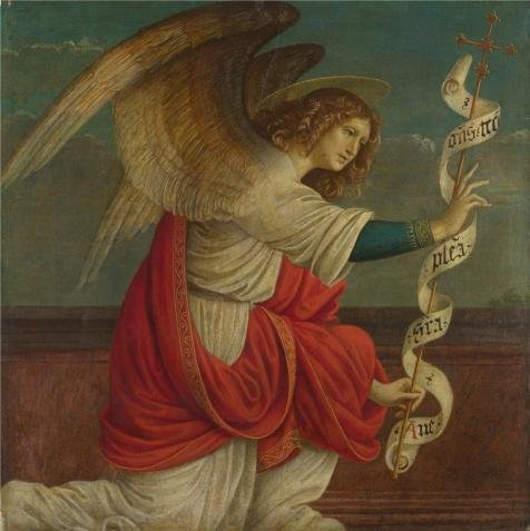 (High Quality Polyster Canvas ,the Best Price Art Decorative Canvas Prints Of Oil Painting 'Gaudenzio Ferrari - The Annunciation - The Angel Gabriel,before 1511', 18x18 Inch / 46x46 Cm Is Best For Bedroom Decor And Home Artwork And Gifts)