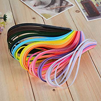 FidgetKute 260pcs 3//5//7//10mm Quilling Paper Strips 26 Colours Assorted DIY Craft Tool 3mm