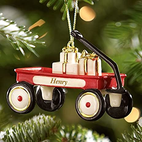 Lenox My Little Red Wagon Ornament Can be Personalized - Amazon.com: Lenox My Little Red Wagon Ornament Can Be Personalized