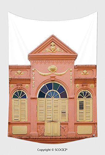 Home Decor Tapestry Wall Hanging Old Window On Yellow Buildings In The South Of Thailand Sino Portuguese Architecture Of Many The 580404256 For Bedroom Living Room Dorm
