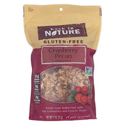 Back To Nature Cranberry Pecan Granola - Whole Grain Rolled Oats with Tart Cranberries and Crunchy Pecans - Case of 6 - 11 - Granola Pecan Cranberry
