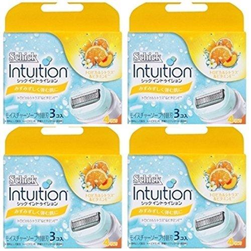 NEW Schick Intuition Tropical Citrus Razor Refill 12 Blade