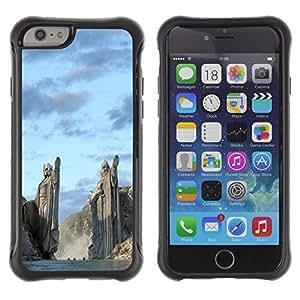 Pulsar Defender Series Tpu silicona Carcasa Funda Case para Apple iPhone 6 Plus(5.5 inches), Architecture Ancient Nord Viking Gods Fjords