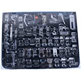 Agile-Shop Professional Domestic 52 pcs Sewing Machine Presser Feet Set for Brother, Babylock, Singer, Janome, Elna, Toyota, New Home, Simplicity, Necchi, Kenmore, and White Low Shank Sewing Machines