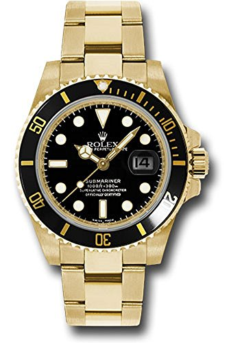 al 40MM 18K Yellow Gold Submariner Date With a Black Cerachrom Rotatable Bezel And a Black Index Dial. ()