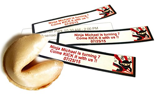 Greenfire Custom Fortune Cookies, for Special Events and Occasions, Full Color Fortune Printing, Premium Vanilla, Bulk Quantity by Greenfire Custom Fortune Cookies (Image #4)