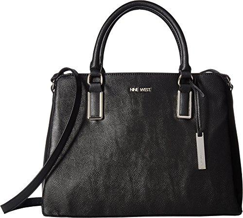 hlani Satchel Black One Size (Metal Logo Handbag)