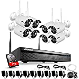 ANNKE 1080p 8CH HDMI NVR and 1TB HDD - 8 HD WiFi Wireless Weatherproof Security Cameras System with Night Vision,Email Alarm,Motion Detect - Hassle Free Installation No Video Cable Needed