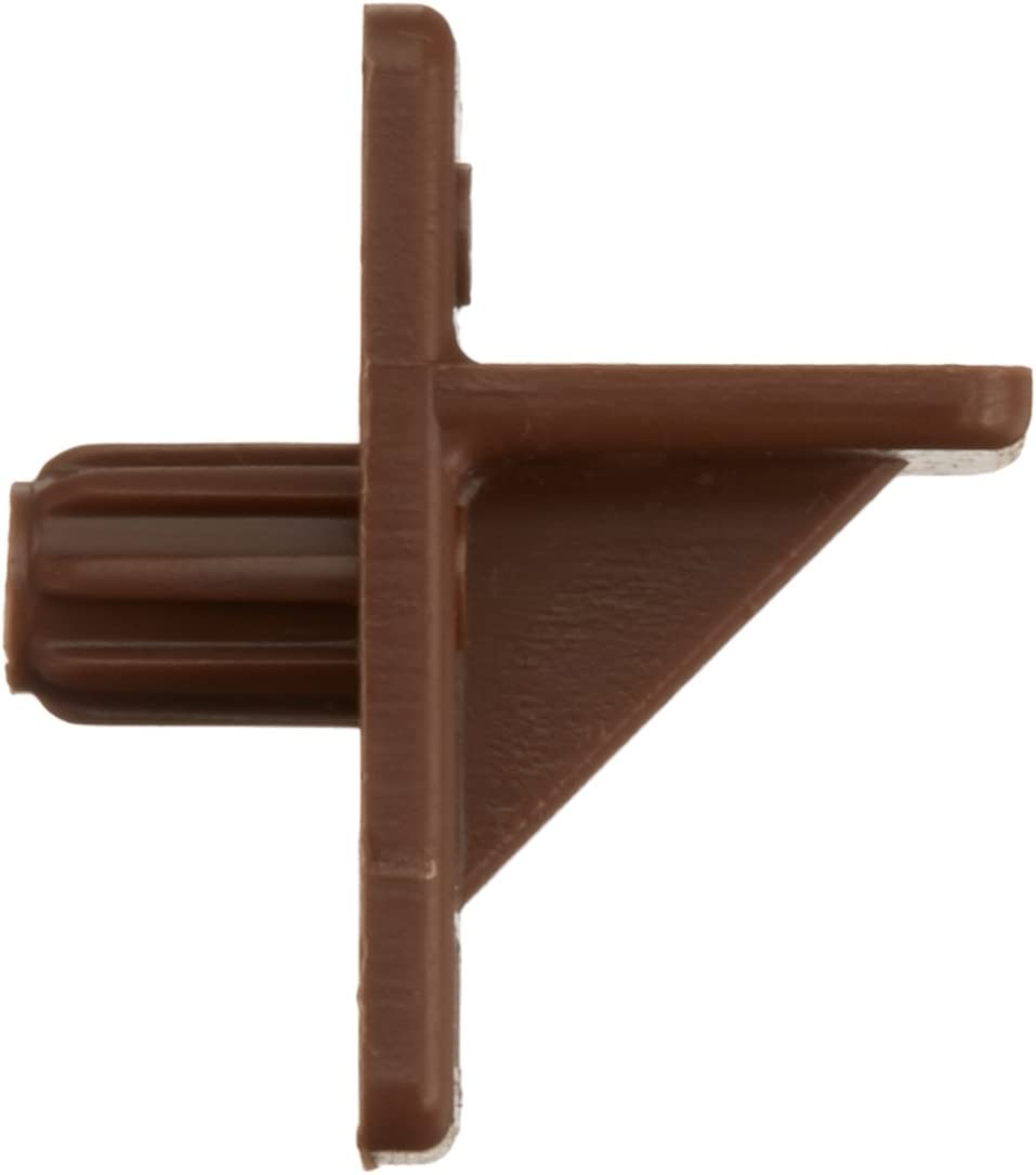 Slide-Co 242154 Shelf Support Peg, 1/4-Inch, Brown Plastic,(Pack of 12)